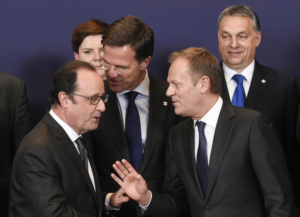 hét képei - afp.16.03.18. - Brüsszel: EU-csúcs, Orbán Viktor