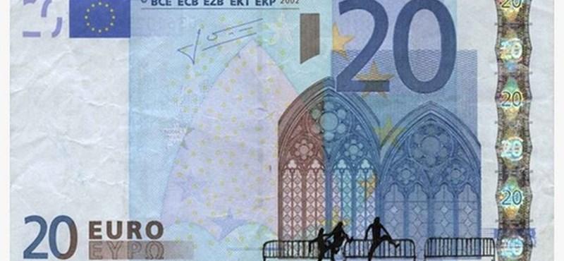 Egész hihetetlenül rakták euróbankjegyre a görög válságot – fotó