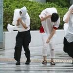 Nincs áram, nem járnak a repülők Japánban a Lekima tájfun miatt