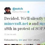 A Minecraft is tiltakozik a SOPA ellen