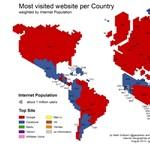 Ezek a világ legnépszerűbb weboldalai, országokra bontva