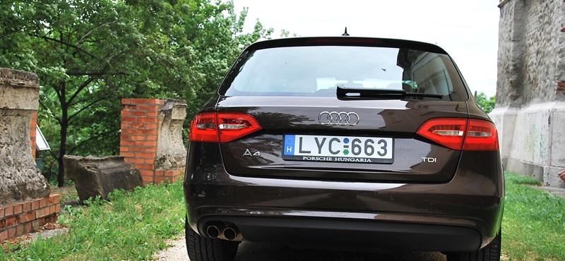 Teszteltük az új kombi Audi A4-est