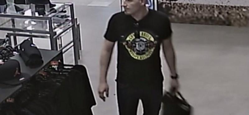 Áruházból lopott sportcipőt, keresi a rendőrség