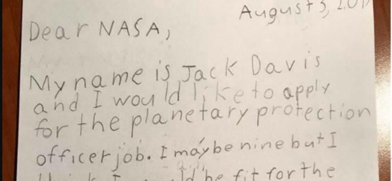 Tündéri levelet írt a NASA-nak egy kisfiú, aki a Galaxis őrzője