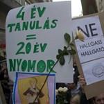 A Nyugati téren és a Szalay utcában tüntetnek a röghöz kötés ellen