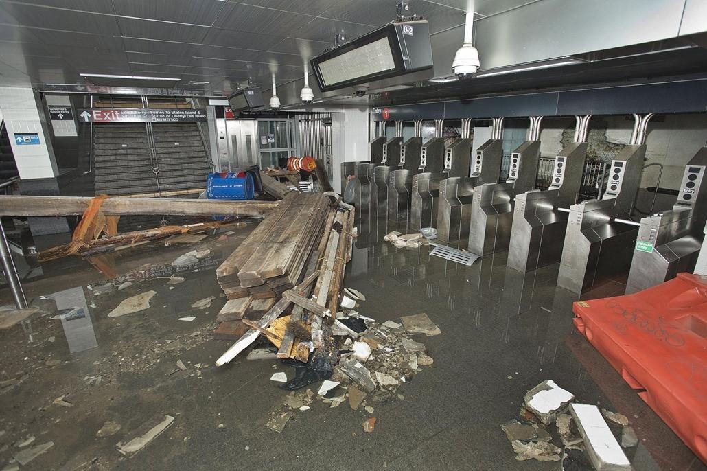 A New York-i metróban pusztított Sandy