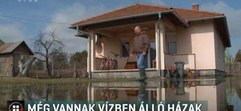 Olyan vihar volt hétvégén Balatonmáriafürdőn, hogy még nem folyt el a víz