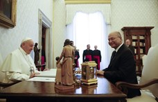 A közel-keleti keresztények sorsáról tárgyalt Ferenc pápa az iraki elnökkel