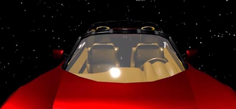 Ezen a weboldalon követheti, hol is jár az űrben éppen Elon Musk Tesla Roadstere