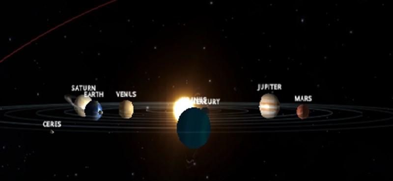 Remek alkalom: böngészőjéből utazhatja be a Naprendszert