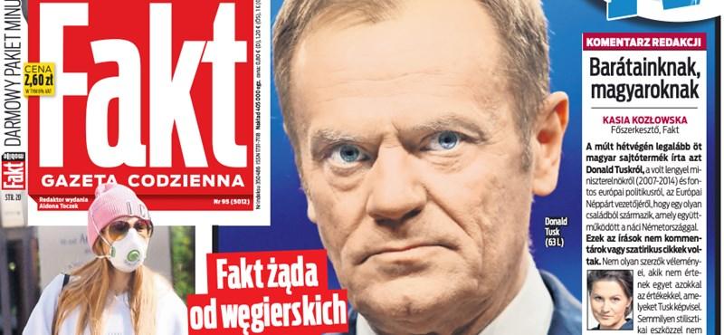 A lengyel bulvár tombol a magyar kormánymédia Tusk-hamisítása miatt