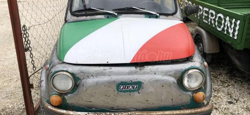Virágtartónak hirdetik, de jobb sorsért kiált ez az óbudai kis Fiat 500