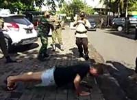 Balin utcai fekvőtámasszal büntetik azt, aki nem hord maszkot