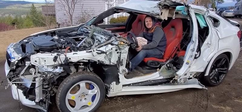 Videó: így vezethető egy totálkáros BMW X6 M