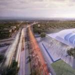 Az MTK új stadionának első tartópillére már a helyére került