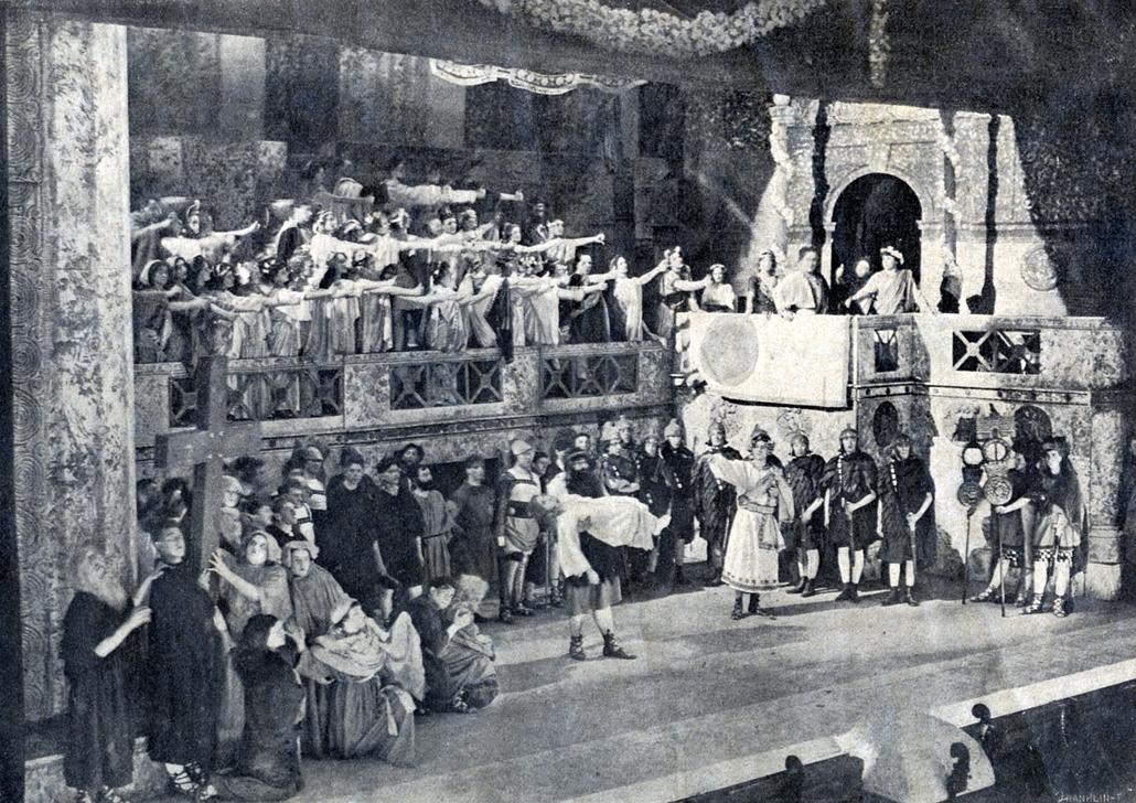 Erkel Színház - Nagyítás-fotógaléria - 1911, Quo Varis opera II. felvonása - Róma égése