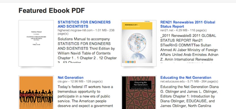 PDF-állományok online kincsesbányája