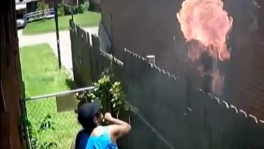 A saját házának biztonsági kamerája buktatott le egy gyújtogatót