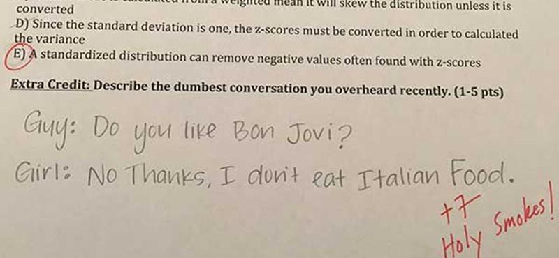 Elképesztő kérdésekre ad pluszpontokat a világ talán legviccesebb professzora