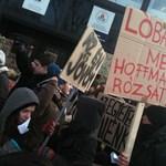 Elfoglalták az ELTE jogi karát a tüntető diákok