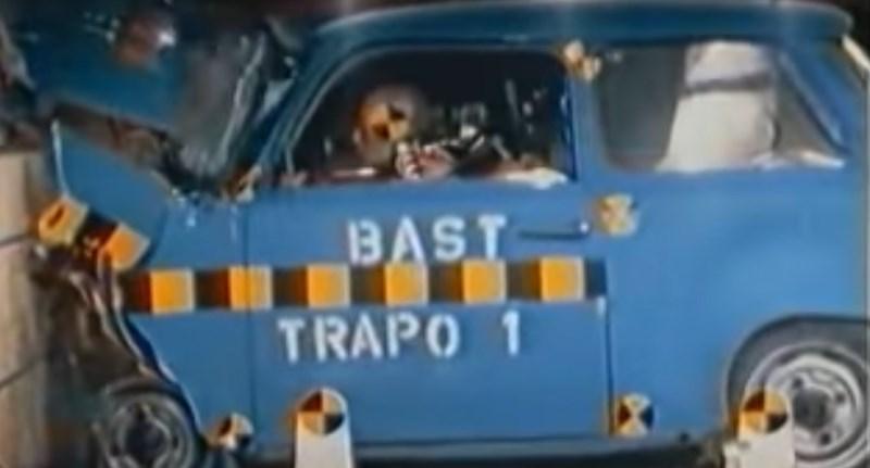 Videó: törésteszten egy Trabant és egy régi Skoda