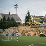 Már építik Kozármislenyben a legújabb stadiont