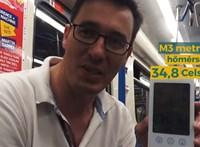 Karácsony Gergely 34,8 fokot mért a felújított hármas metróban