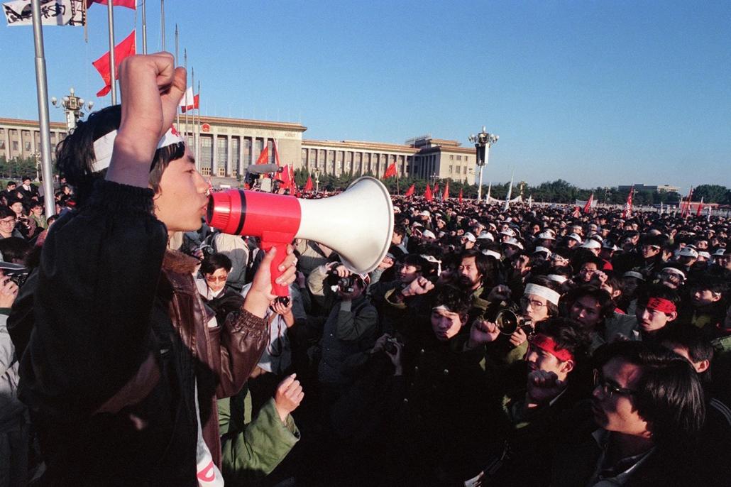 afp Tienanmen tér NAGYÍTÁS 1989. május 14