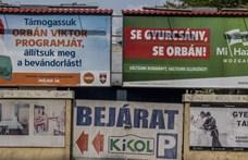 Fizethet, aki még most is kint hagy EP-választási plakátokat