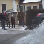 Óvatosan közlekedjen, ha nem akar úgy járni, mint ez a budakeszi autós - videó