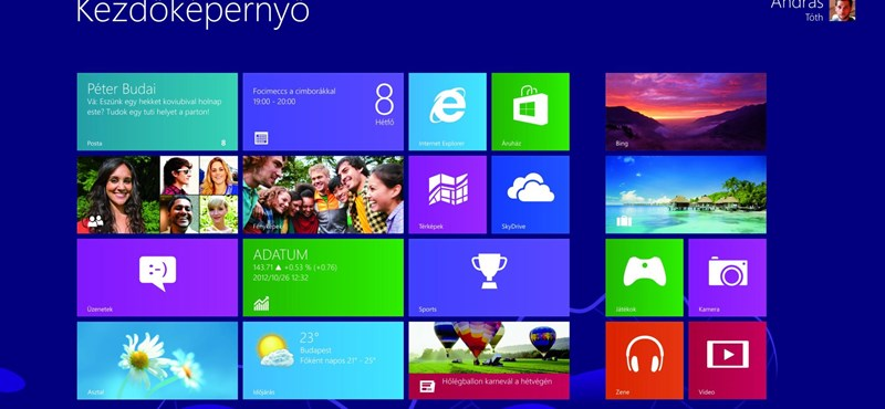 Windows 8: mint a szomszéd mosógépe