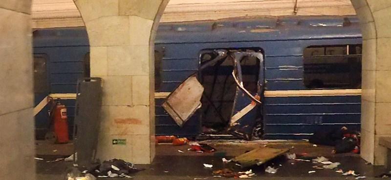 Egy közép-ázsiai férfi robbanthatott a szentpétervári metróban