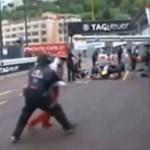 Majdnem elütötték a lófráló Raikkonent - videó