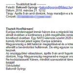 A Fidesz szerint csak azoknak ír Bakondi, akik felhatalmazást adtak erre