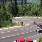 Durva videó került elő a Tour de Utah-n csattanó biciklisről