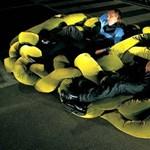 Egy őrült kanapé: hatalmas gubanc a szoba közepén