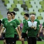 Az írek a szurkolóikért fociznak