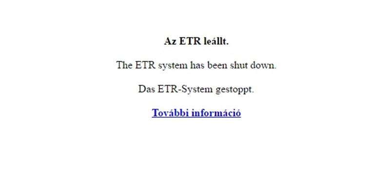 Véget ért egy korszak, Szegeden is lekapcsolták az ETR-t