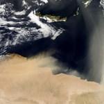 Fotó: homokvihar a Földközi-tenger fölött