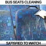 Kíváncsi, hogy néz ki egy buszülés tisztítás előtt és után? Videó