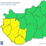 Jön a vihar: figyelmeztetést adtak ki – térkép