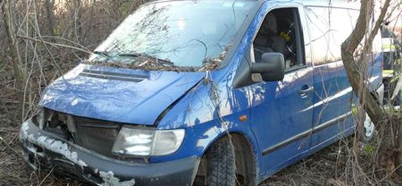 Halott lehetett a sofőr, amikor fák közé hajtott a Mercedes – fotó