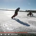 Ilyen kétségbeesett motoros kergetőzést is ritkán látni - videó