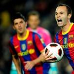 Bajnokok Ligája: Iniesta nem játszhat az AC Milan ellen
