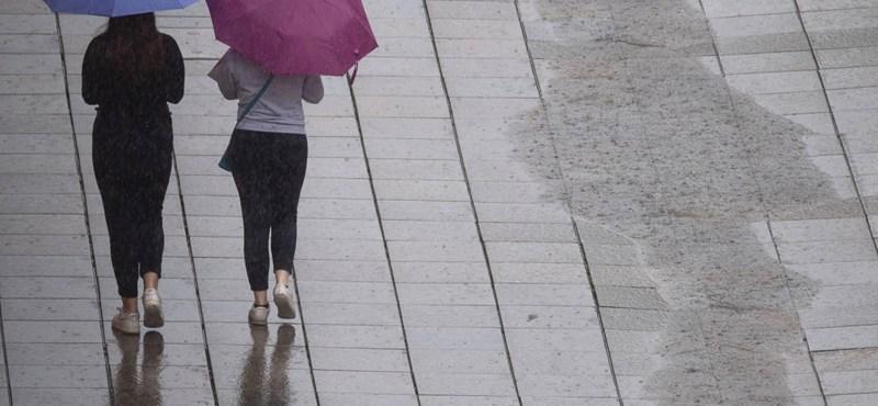 Esős, szeles lesz a hétvége hátralévő része