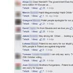 Bűnbánó lengyelek özönlötték el Orbán Facebook-oldalát