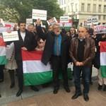 Megtapsolták a CÖF illegális tüntetésének felszámolását az EP előtt - Fotó