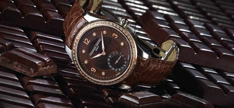 Karácsonyi ajándék: Csokoládé óra – gyémánttal, aranyban!