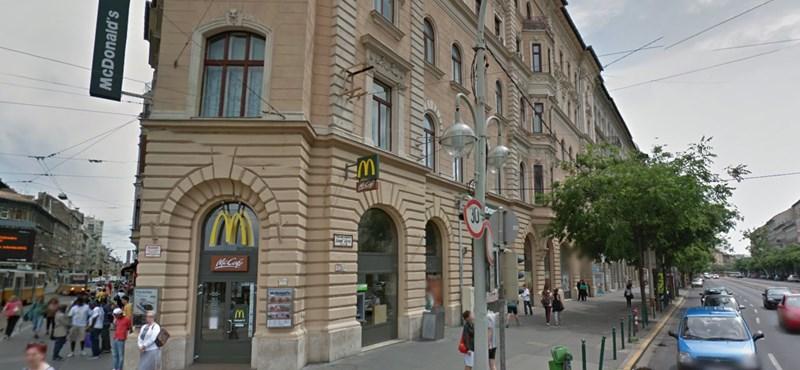 Durva incidens történt a múlt éjjel a Blaha Lujza téri McDonald's-ban