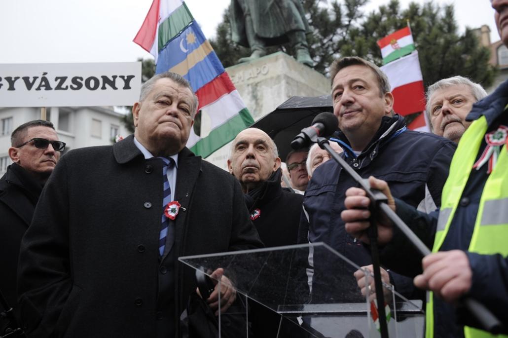 fm.18.03.15. - 2018marcius15. - Békemenet Bem tér lengyel megemlékezés - Bayer Zsolt Széles Gábor